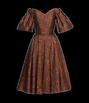 """Treasure dress tangerine"" by Lena Hoschek - Artisan Partisan - Autumn/winter collection AW20/21"