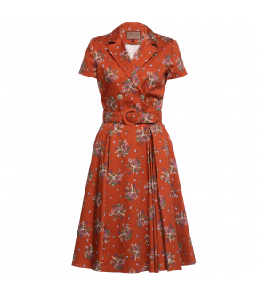 """""""Triumph dress granny"""" in red by Lena Hoschek - Artisan Partisan - Autumn/winter collection AW20/21"""