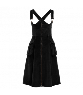 """Turnover"" dress in black by Lena Hoschek - Artisan Partisan - Autumn/winter collection AW20/21"