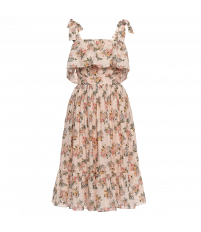 "Pink ""Vanda"" dress with floral print by Lena Hoschek - Season of the Witch - Lena Hoschek summer collection 2020"