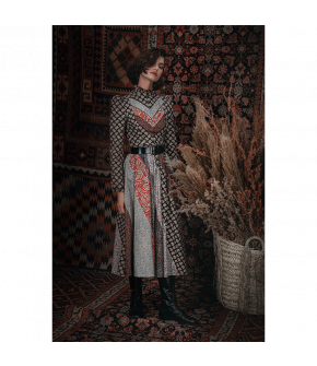"""Vanderbilt"" dress by Lena Hoschek - Artisan Partisan - Autumn/winter collection AW20/21"