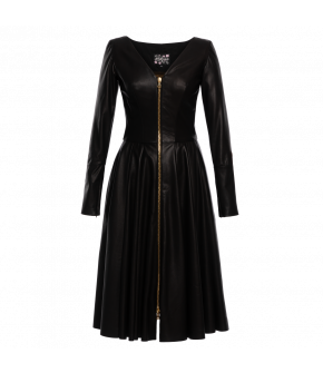 "Napa-leather ""Worship"" dress in black by Lena Hoschek - Summer collection 2020 Season of the Witch"