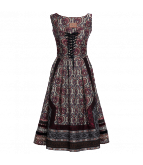 """Zhena"" dress by Lena Hoschek - Artisan Partisan - Autumn/winter collection AW20/21"