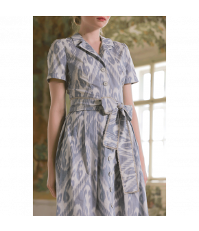 Ernestine Dress in blue by Lena Hoschek - SS21 summer collection - Antoinette's Garden