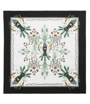 "Lena Hoschek Foulard ""Season of the Witch"" in black - size 90x90cm - summer collection - SS20 - Season of the Witch"