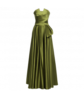 """1001 nights gown jade"" by Lena Hoschek - Artisan Partisan - Autumn/winter collection AW20/21"