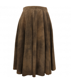Hallali leather skirt from the Meindl by Lena Hoschek autumn/winter 2021 collection.