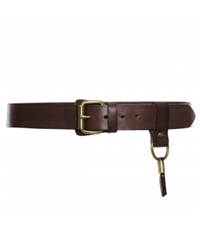 "Leather belt by Dukes for Lena Hoschek in ""dark brown"""