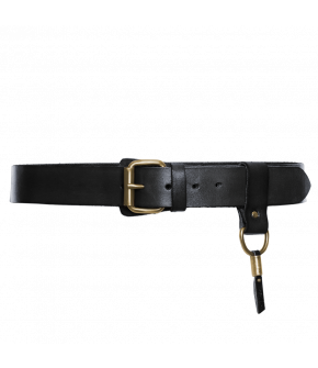 "Leather belt by Dukes for Lena Hoschek in ""black"""