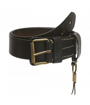 "Heritage wide leather belt in ""black"" by DUKES FINEST ARTISAN for Lena Hoschek AW20/21 collection ""Artisan