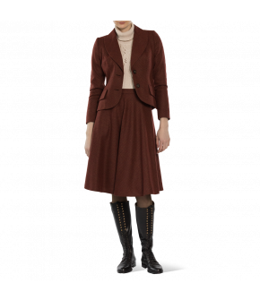 "Red wool skirt ""Kingsman"" from Lena Hoschek with tailored waist - Artisan Partisan - Autumn/winter collection AW20/21"