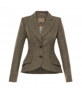 "Soft green fitted blazer by Lena Hoschek ""Architect Jacket rosemary"""