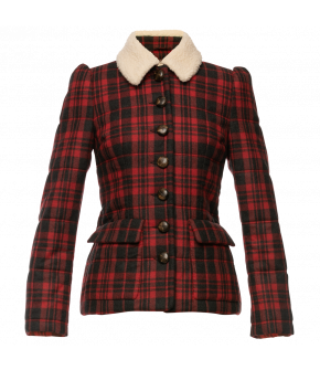 Elinor Jacket in red and black by Lena Hoschek - AW21/22 autumn/winter collection - Biedermeier