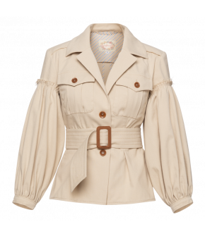 Molière Jacket in beige by Lena Hoschek - SS21 summer collection - Antoinette's Garden
