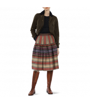 "Striped skirt ""Maroc"" from Lena Hoschek with ruched border - Artisan Partisan - Autumn/winter collection AW20/21"