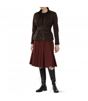 """Faye skirt merlot"" by Lena Hoschek - Artisan Partisan - Autumn/winter collection AW20/21"