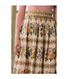 Jardinière Skirt with floral print by Lena Hoschek - SS21 summer collection - Antoinette's Garden