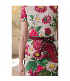 Julie Dress with Flowers by Lena Hoschek - SS21 summer collection - Antoinette's Garden