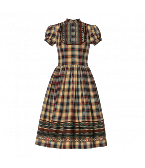 Gretl Dress Bauernstube in plaid pattern by Lena Hoschek Tradition - AW21/22 autumn/winter collection