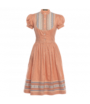 "Orange dress ""Gretl Marille"" by Lena Hoschek Tradition - SS20 summer collection"