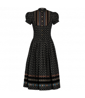 "Printed black traditional ""Gretl"" dress from Lena Hoschek Tradition - autumn/winter collection AW20/21"