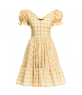 "Traditional ""Hannerl"" dress in picnic yellow by Lena Hoschek - Season of the  Witch - SS20 summer collection"