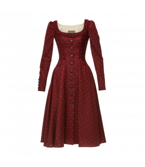 Magdalena Dress in red by Lena Hoschek Tradition - AW21/22 autumn/winter collection