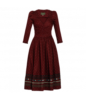 "Traditional ""Maresi"" dress from Lena Hoschek Tradition with ruffles - autumn/winter collection AW20/21"