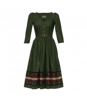 Maresi Dress Tanne in green by Lena Hoschek Tradition - AW21/22 autumn/winter collection