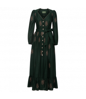 Margarete Dress Tanne in green - SS21 summer collection - Lena Hoschek Tradition
