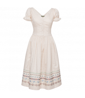 Mariechen Dress Sag Ja in white - SS21 summer collection - Lena Hoschek Tradition