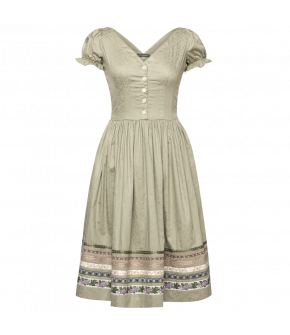 Mariechen Dress Weingarten in green - SS21 summer collection - Lena Hoschek Tradition
