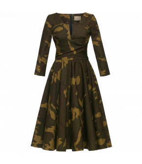 "Camouflage print Fit-and-flare dress by Lena Hoschek ""Sergeant"""