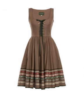 "Traditional brown ""Violetta"" dress ""Berghütte"" by Lena Hoschek Tradition - SS20 summer collection"