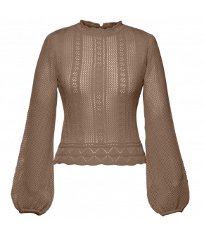 Affaire Knitted Top nature in taupe by Lena Hoschek - SS21 summer collection - Antoinette's Garden