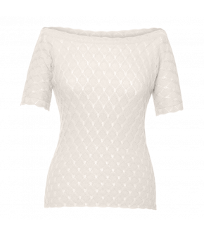 Camille Knitted Top blanc in white by Lena Hoschek - SS21 summer collection - Antoinette's Garden