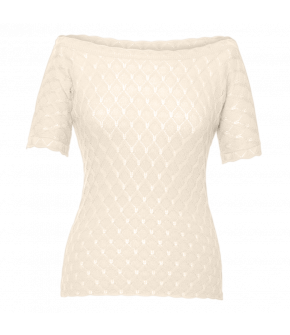 Camille Knitted Top ivoire in cream by Lena Hoschek - SS21 summer collection - Antoinette's Garden