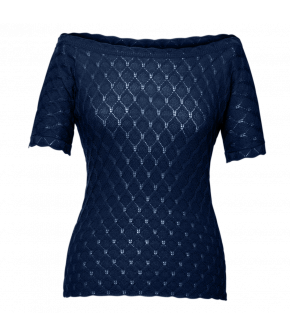 Camille Knitted Top minuit in dark blue by Lena Hoschek - SS21 summer collection - Antoinette's Garden