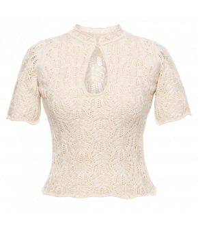 Choupette Knitted Top crème by Lena Hoschek - SS21 summer collection - Antoinette's Garden
