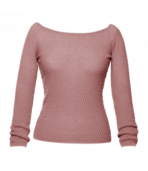 Danielle Knitted Top rosé by Lena Hoschek - SS21 summer collection - Antoinette's Garden