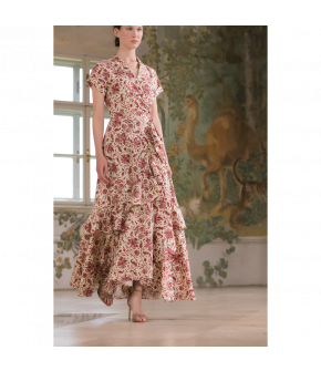 Aperitif Dress with red flowers by Lena Hoschek - SS21 summer collection - Antoinette's Garden