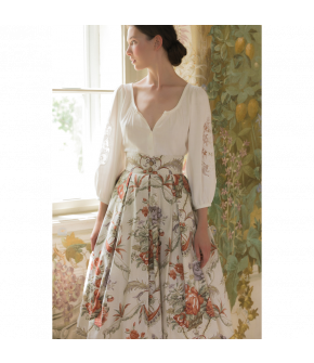 Belvédère Skirt with flowers by Lena Hoschek - SS21 summer collection - Antoinette's Garden