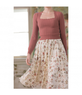 Charmante Pullover vieux rose by Lena Hoschek - SS21 summer collection - Antoinette's Garden