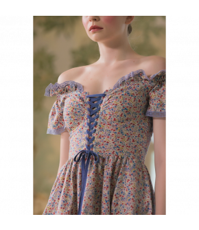 Coquine Dress with flowers by Lena Hoschek - SS21 summer collection - Antoinette's Garden