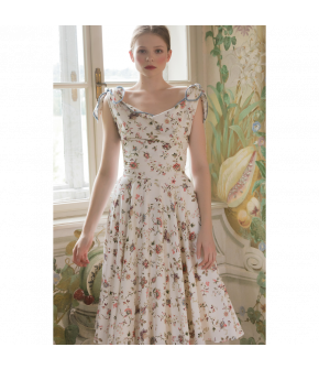 Joséphine Dress with flowers by Lena Hoschek - SS21 summer collection - Antoinette's Garden