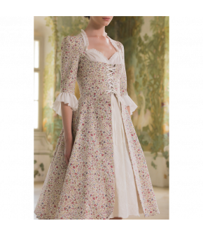 Maîtresse Dress with floral print by Lena Hoschek - SS21 summer collection - Antoinette's Garden