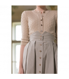 Michèle Cardigan poudre in ivory by Lena Hoschek - SS21 summer collection - Antoinette's Garden