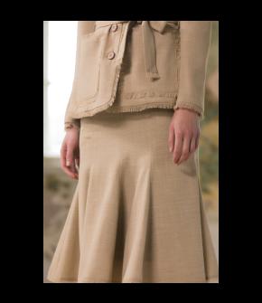 Promenade Skirt in beige by Lena Hoschek - SS21 summer collection - Antoinette's Garden