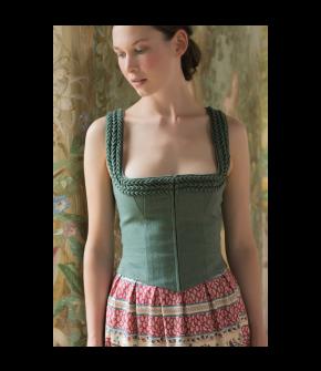 Helene Bodice Salbei in green - SS21 summer collection - Lena Hoschek Tradition