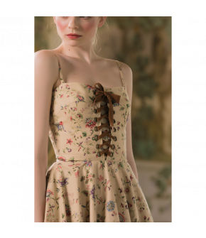 Sunny Side Dress impérial nature with flowers by Lena Hoschek - SS21 summer collection - Antoinette's Garden